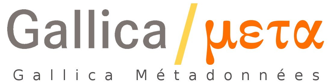 Logotype Gallica Metadonnées